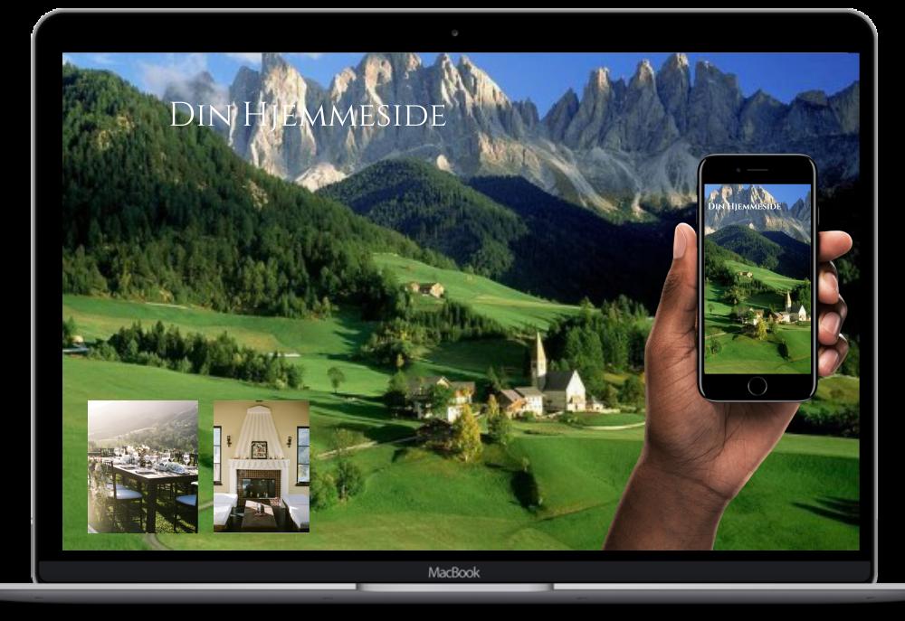 Bilde av en ny hjemmeside på PC og mobil