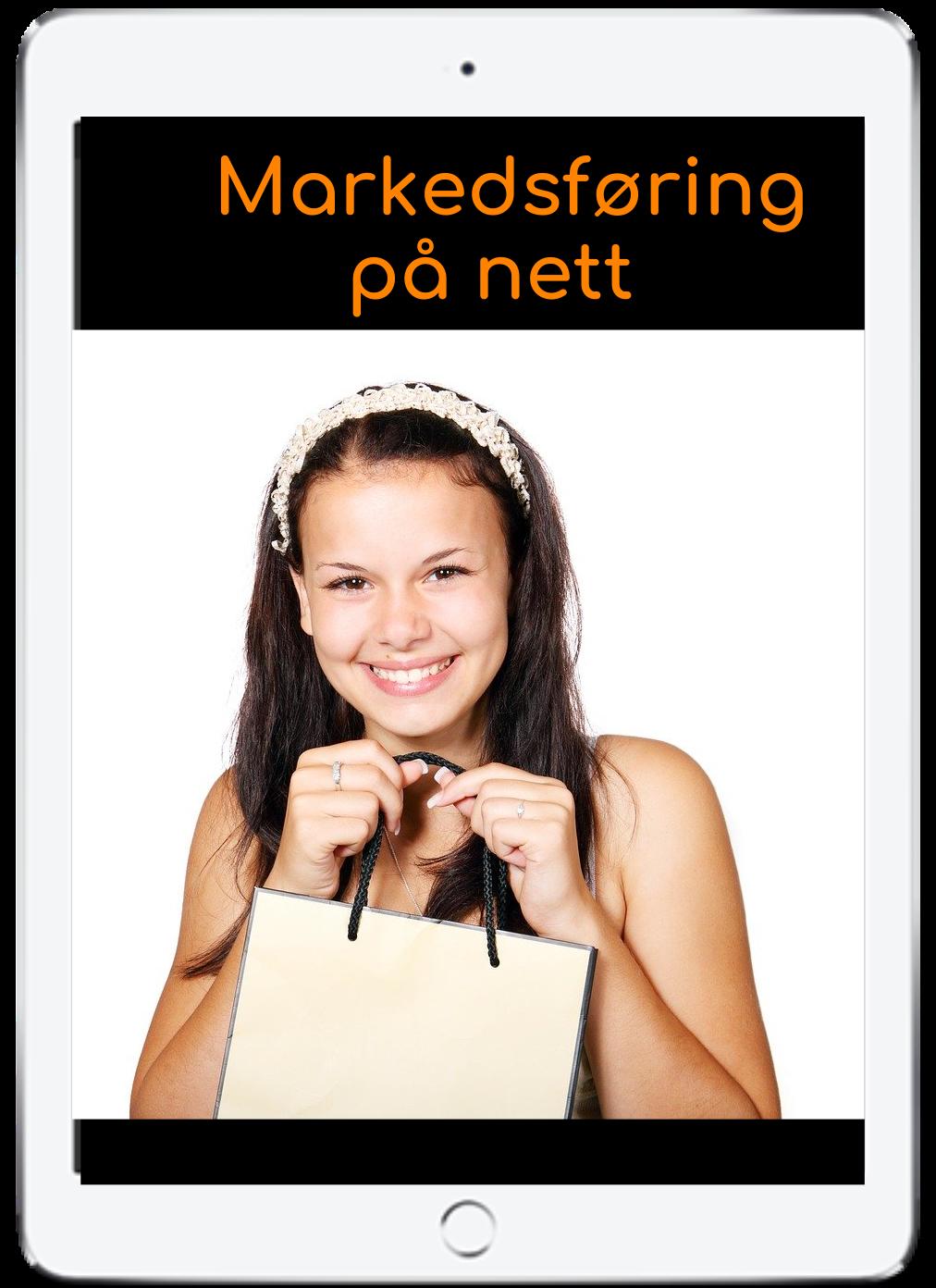 Bilde av kvinne med handlebag.